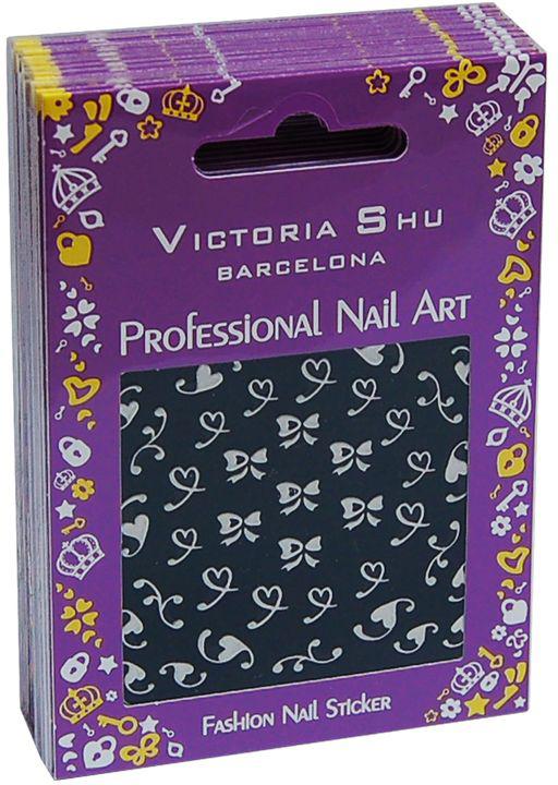 Victoria Shu NS010 Комплект наклеек для ногтей, 12 шт