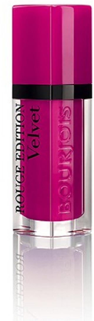 Bourjois Rouge Edition Velvet Бархатный флюид для губ тон 06 6,7 мл29101273006Матовое покрытие и яркий цвет. Легкая, невесомая текстура, не ощутимая на губах. Простое нанесение, абсолютный комфорт и 24-часовая стойкость... УНИКАЛЬНАЯ ТЕКСТУРА Rouge Edition Velvet имеет удивительную текстуру. Флюидная текстура легко наносится и превращается в красивый матовый оттенок. Мягкая, флюидная текстура помады создает ультракомфортное ощущение второй кожи. Самый матовый, самый бархатный, самый гламурный! МАТОВАЯ И НЕВЕРОЯТНО ЛЕГКАЯ. Одно из самых главных качеств помад Bourjois - увлажнение. Формула Rouge Edition Velvet, обогащенная пигментами и маслами, обеспечивает исключительный комфорт и длительную стойкость.