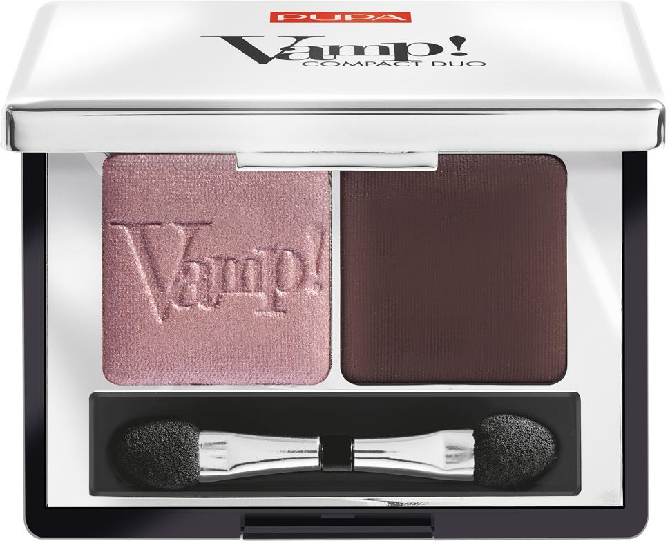 Pupa Компактные двойные тени VAMP! DUO тон 002 розовая земля, 2,2 г040087002Двойные компактные тени VAMP! COMPACT DUO. Набор из двух компактных теней для век. Инновационная формула - высокая концентрация пигментов, чистый однородный цвет. Очень мягкая текстура легко растушёвывается и позволяет моделировать степень покрытия. Абсолютно чистый, однородный и равномерный цвет. Формула нового поколения: специальное сочетание связующих веществ делает цвет равномерным по всей поверхности века, увеличивая стойкость макияжа.