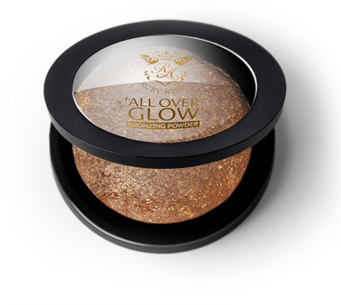 Kiss Бронзирующая пудра Bronze Glow Face & Body Bling Powder ABP03 бронзатор kiss all over glow bronzing powder abp03 цвет abp03 bronze variant hex name ce835f