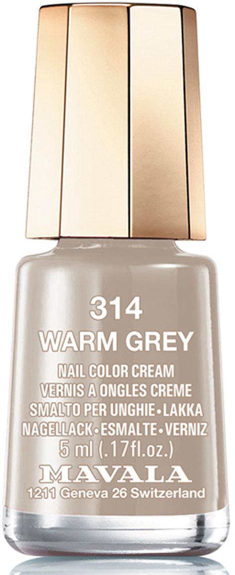 Mavala Лак для ногтей Согревающий серый/Warm Grey , Тон 314, 5 мл