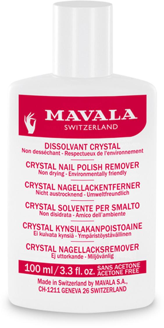 Mavala Жидкость для снятия лака Crystal 100 мл08-1524Жидкость для снятия лака Crystal Mavala с деликатной формулой позволяет легко удалять лак, не пересушивая ногти и кожу. Подходит для всех типов ногтей, в том числе мягких, тонких и ослабленных. Не содержит красителей, отдушек и ацетона.Как ухаживать за ногтями: советы эксперта. Статья OZON Гид