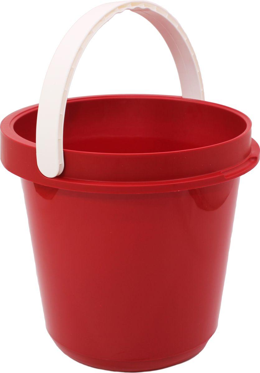 Ведро Plast Avenue, цвет: красный, круглое, 12 л4612754053971Ведро изготовлено из высококачественного прочного пластика. Материал не токсичен - вы можете использовать его для пищевых продуктов, для сбора урожая и т.д. Оно легче железного и не подвержено коррозии. Ведро оснащено удобной пластиковой ручкой.