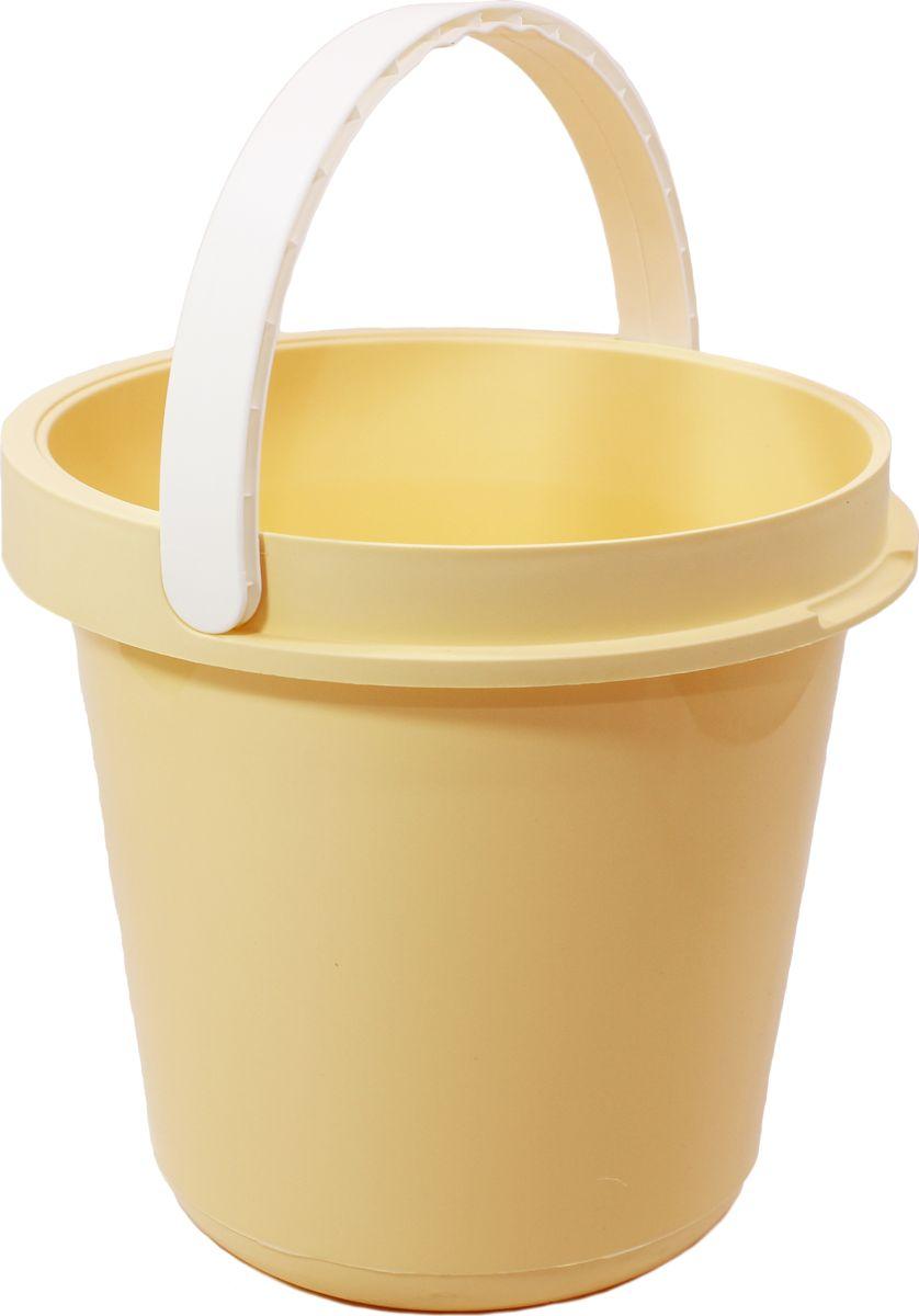 Ведро Plast Avenue, цвет: кремовый, круглое, 12 л4612754053988Ведро изготовлено из высококачественного прочного пластика. Материал не токсичен - вы можете использовать его для пищевых продуктов, для сбора урожая и т.д. Оно легче железного и не подвержено коррозии. Ведро оснащено удобной пластиковой ручкой.