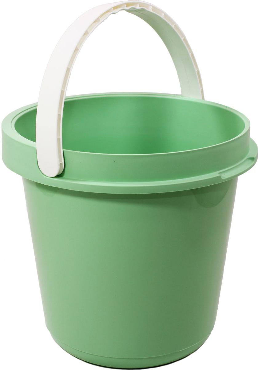 Ведро Plast Avenue, цвет: мятный, круглое, 12 л4612754053995Ведро изготовлено из высококачественного прочного пластика. Материал не токсичен - вы можете использовать его для пищевых продуктов, для сбора урожая и т.д. Оно легче железного и не подвержено коррозии. Ведро оснащено удобной пластиковой ручкой.