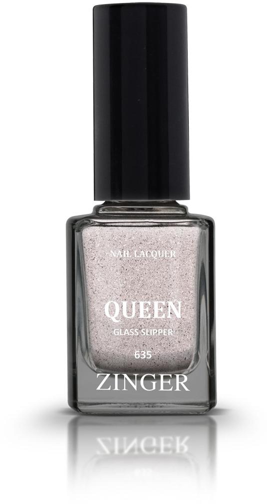 Zinger Лак для ногтей QUEEN GLASS SLIPPER 635, 12 мл7820560 трендовых оттенков для новой коллекции лака для ногтей Zinger 2016 произведены во Франции по экспертной технологии, которая обеспечивает прочное покрытие и одновременно заботится о здоровье ногтей, сохраняя их природную красоту. Новая формула лака Gel-technology 3-го поколения свободна от парабенов, толуола, ДБП, исключено использование камфоры и формальдегидной смолы. Для дополнительной защиты ногтей, в новой 5free формуле лаков Zinger появились UV-фильтры. Лак теперь наносится легко и быстро, абсолютно ровным слоем, благодаря новой профессиональной кисточке из 222 волосков. Лак держится намного дольше и высыхает после нанесения в течение нескольких минут. Сырье для производства лаков и конечный продукт –лаки Zinger не тестируются на животных. Фактура с глиттерами металликКак ухаживать за ногтями: советы эксперта. Статья OZON Гид