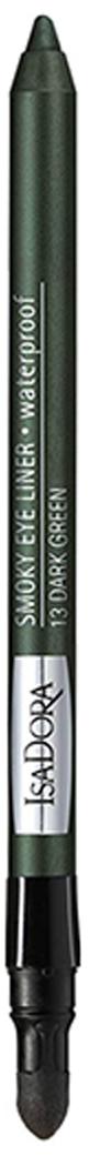 Isa Dora Карандаш для век водостойкий с аппликатором Smoky Eye Liner 13 1,2гр29101562033Водостойкий карандаш для век имеет мягкий контурный, легок в нанесении. Можно растушевать контур , благодаря спонжу на обратной стороне карандаша или нанести четкую линию, сделав широкие стредки. Офтальмологически тестиров.