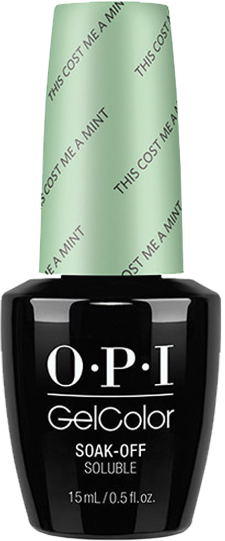 OPI Гель-лак GelColor This Cost Me a Mint, 15 мл opi gelcolor гель лак i sea you wear opi gca73