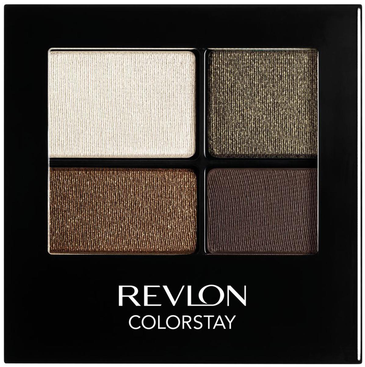 Revlon Тени для Век Четырехцветные Colorstay Eye16 Hour Eye Shadow Quad Adventurous 515 4,8 г7210767004Colorstay 16 Hour Sahdow - роскошные тени для век с шелковистой текстурой и невероятно стойкой формулой. Теперь ваш макияж сохранит свой безупречный вид не менее 16 часов! Все оттенки гармонично сочетаются друг с другом и легко смешиваются, позволяя создать бесконечное количество вариантов макияжа глаз: от нежных, естественных, едва заметных, до ярких, выразительных, драматических. На оборотной стороне продукта приведена схема нанесения.Аккуратно нанести на веки специальной кисточкой.