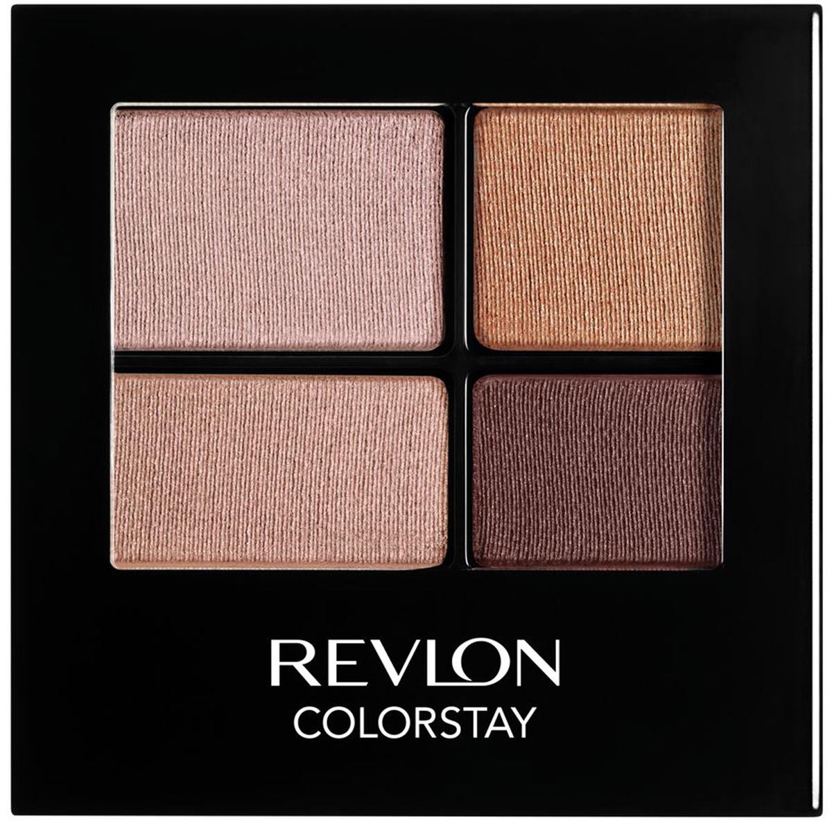 Revlon Тени для Век Четырехцветные Colorstay Eye16 Hour Eye Shadow Quad Decadente 505 4,8 г7210767002Colorstay 16 Hour Sahdow - роскошные тени для век с шелковистой текстурой и невероятно стойкой формулой. Теперь ваш макияж сохранит свой безупречный вид не менее 16 часов! Все оттенки гармонично сочетаются друг с другом и легко смешиваются, позволяя создать бесконечное количество вариантов макияжа глаз: от нежных, естественных, едва заметных, до ярких, выразительных, драматических. На оборотной стороне продукта приведена схема нанесения.Аккуратно нанести на веки специальной кисточкой.
