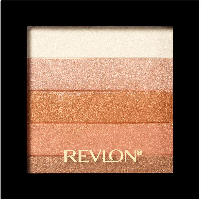 Revlon Палетка Хайлайтеров для Лица Highlighting Palette Bronze glow 030 7,5 г7210384003Revlon Highlighting Palette - это пленительная гамма цветов, представленных в одной палетке. Входящие в ее состав сияющие оттенки чудесным образом гармонируют друг с другом, освежая цвет лица и придавая ему оттенок легкого загара. Используйте палетку хайлайтеров для того, чтобы с помощью мерцающих частиц зрительно улучшить внешний вид кожи, придав ей свечение.нанесите хайлайтер с помощью кисти на выступающие части лица: верхнюю часть скул, спинку носа, галочку над верхней губой.