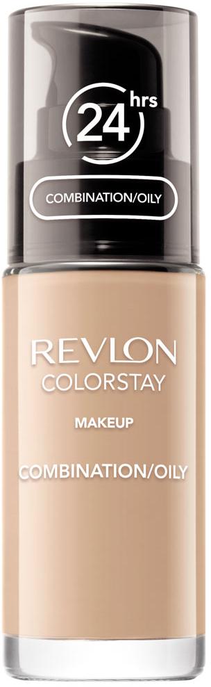Revlon Тональный Крем для Комб-Жирн Кожи Colorstay Makeup For Combination-Oily Skin Sand beige 180 30 мл7221552003Colorstay - легендарная коллекция тональных средств, выбор ведущих визажистов во всем мире! Colorstay Make Up For Combination / Oily Skin - тональный крем с удивительно легкой текстурой идеально выравнивает тон и рельеф кожи, защищает от появления жирного блеска. Colorstay™ дарит коже приятную матовость, сохраняет макияж безупречным надолго - гарантированная стойкость в течение 24 часов! Предназначен для смешанной и жирной кожи.Наносите крем легкими разглаживающими движениями от центра к контурам с помощью кисти или пальцев, затем растушуйте на границе нанесения: у линии роста волос, в области шеи и ушей.