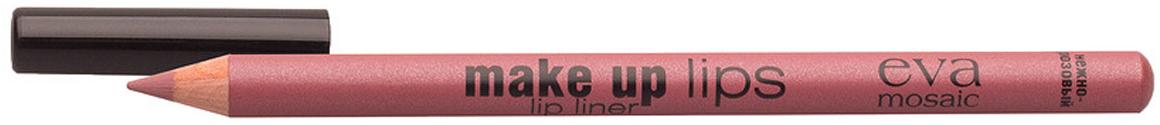 Eva Mosaic Карандаш для объема губ Make Up Lips, 1,1 г, Нежно-Розовый685271Мягкий карандаш для губ создает четкий контур и подчеркивает цвет помады- комфортно наносится- содержит воски и питательные вещества для дополнительного ухода- не стирается и не размазывается в течение дня