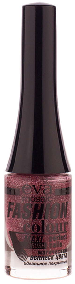 Eva Mosaic Лак для ногтей Fashion Colour, 6 мл, 085 Мерцающая Радуга