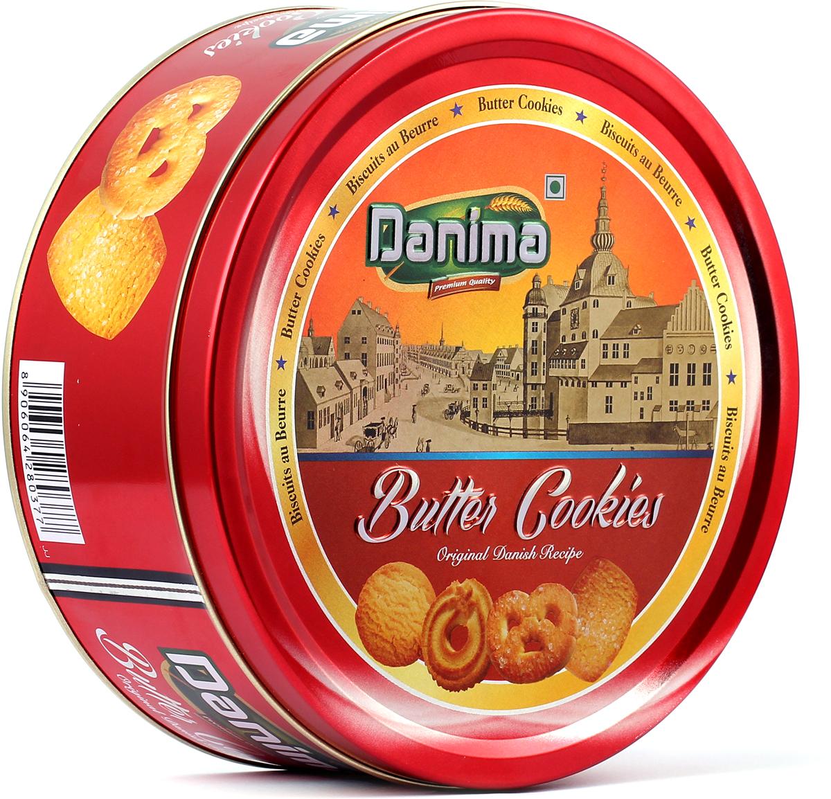 Danima сливочное индийское печенье, 340 г danima печенье ассорти с тмином и кокосовой стружкой 300 г