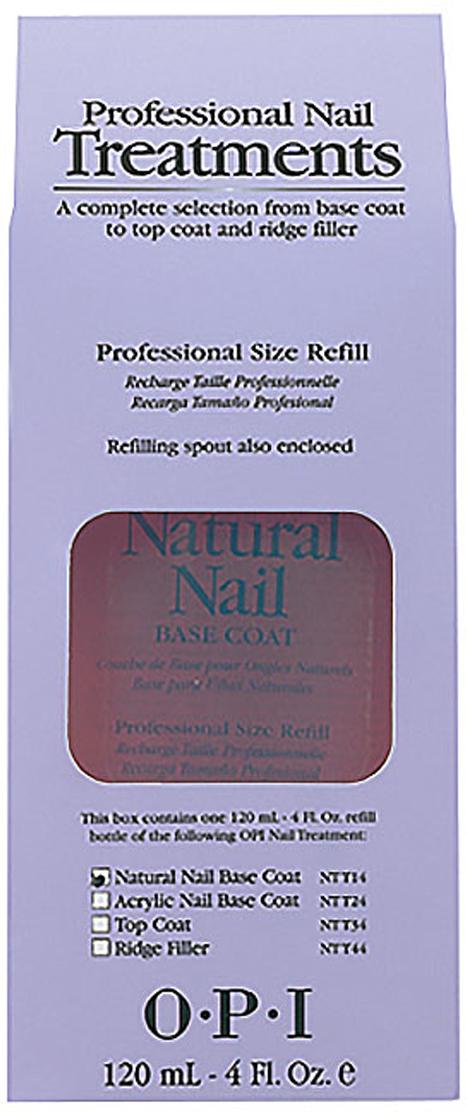 OPI Покрытие базовое c кератин-аминокислотами Natural Nail Base Coat, 120 мл opiбазовое покрытие для ярких оттенков лака opi natural nail base coat put a coat on 15 мл