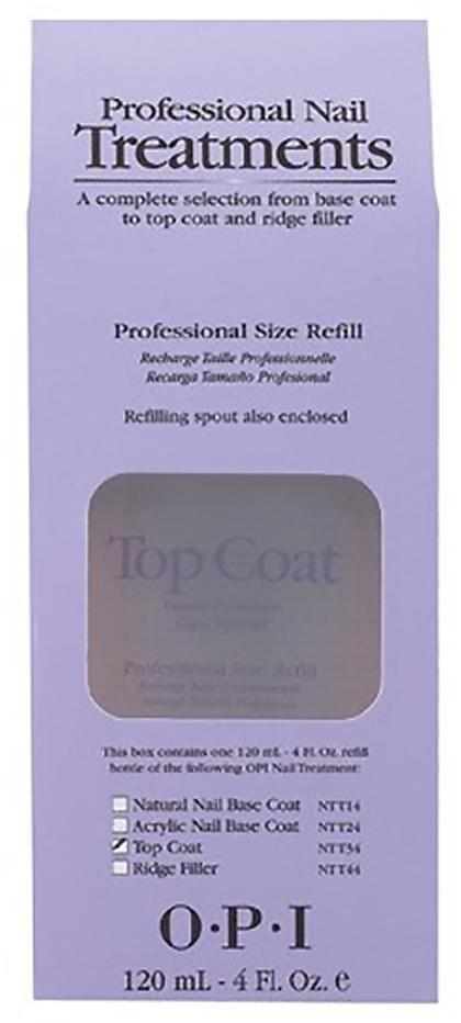 OPI Покрытие закрепляющее Top Coat, 120 мл opi покрытие верхнее быстрая сушка rapidry top coat 15 мл