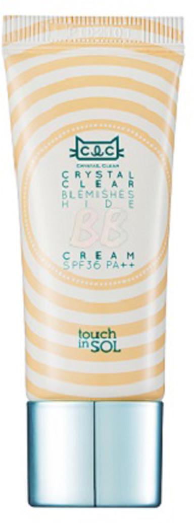 Touch in SOL BB крем Crystal Clear, SPF 36PA, цвет: бежевый, 20 млУТ000001710Содержит микрочастицы пудры. Мягкие пудровые микрочастицы создают покрытие, которое контролирует жирный блеск, а такжевыравнивает тон кожи, подчеркивая ее естественную красоту. Крем содержит высокоувлажняющую эссенцию, которая разглаживает поверхностькожи, освежая ее. Благодаря этому пигментный тон ложится ровно, а кожа остается увлажненной.Обладает свойствами отбеливания, борьбы с морщинами, защиты от УФ-лучей. ВВ-крем защищает кожу от ультрафиолетового излучения,мелкой пыли и других факторов окружающий среды. Крем отбеливает кожу, выравнивая тон, разглаживает морщинки. Нет необходимости вдополнительной защите от солнца. Подходит для чувствительной кожи.