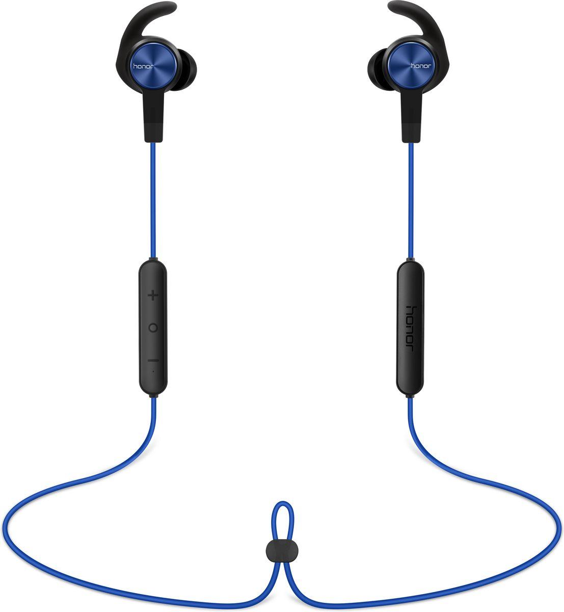 Honor Sport AM61, Blue Bluetooth-гарнитура2452484Спортивные наушники-затычки Huawei Honor AM61подключаются к смартфону или совместимому плееру по Bluetooth и обеспечивают высокое качество звука. Благодаря продуманной конструкции они хорошо держатся в ушах, даже когда владелец бегает или выполняет упражнения. Эта модель оборудована микрофоном, позволяющим отвечать на звонки, поэтому во время тренировки хозяин наушников всегда будет на связи и не пропустит важный вызов. Гарнитура хорошо сочетается с одеждой в спортивном стиле и вписывается в имидж современного человека, который следит за тем, чтобы быть в хорошей физической форме.