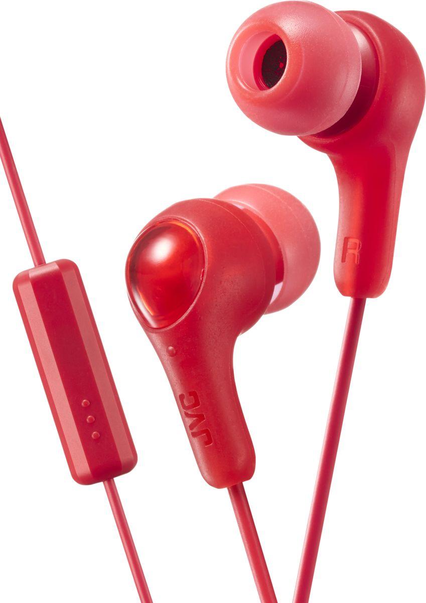 JVCHA-FX7M-R-E, Red наушникиHA-FX7M-R-EНаушники JVC HA-FX7M-E оснащены встроенным микрофоном и однокнопочным проводным пультом, позволяющим выбирать музыку, включать запись и переключаться на телефонный звонок. Дизайн позволяет просто, надёжно и комфортно закреплять наушники в ушном канале. Идеально подходят для всех MP3, DVD, CD-плееров, iPod и iPhone, а также для портативных игровых консолей.