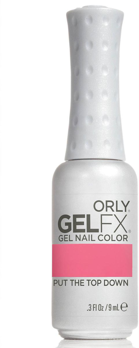 Orly Гель-лак для ногтей Gel FX Gel Nail Lacquer 874 Put The Top Down .3oz/9мл30874Профессиональная система гель-маникюра GELFX содержит витамины A, Е и В5, исключает возникновение проблем с ногтями, обладает свойством выравнивания ногтей, и главное, дарит невероятно стойкий маникюр на целых две недели.Палитра с рейтинговыми оттенками ORLY позволяет с легкостью подобрать нужный цвет к новому образу.Как ухаживать за ногтями: советы эксперта. Статья OZON Гид
