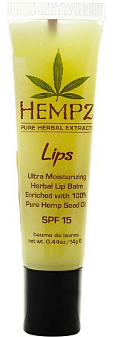 Hempz Бальзам для губ SPF Lip Balm SPF 15 14,5 г110-1275-08Бальзам для губ Lip Balm SPF 15 позволяет сохранить кожу губ мягкой и нежной в любых погодных условиях. Уникальная формула бальзама, с содержанием масла жожоба, витамина E и экстрагированных компонентов семян конопли, оберегает губы от негативных внешних воздействий и жесткого ультрафиолетового излучения. Бальзам мягко тонизирует и увлажняет, обладает заживляющим эффектом.Состав активных компонентов: очищенное конопляное масло, витамин Е, масло жожоба, октил метоксициннамат, оксибензон.