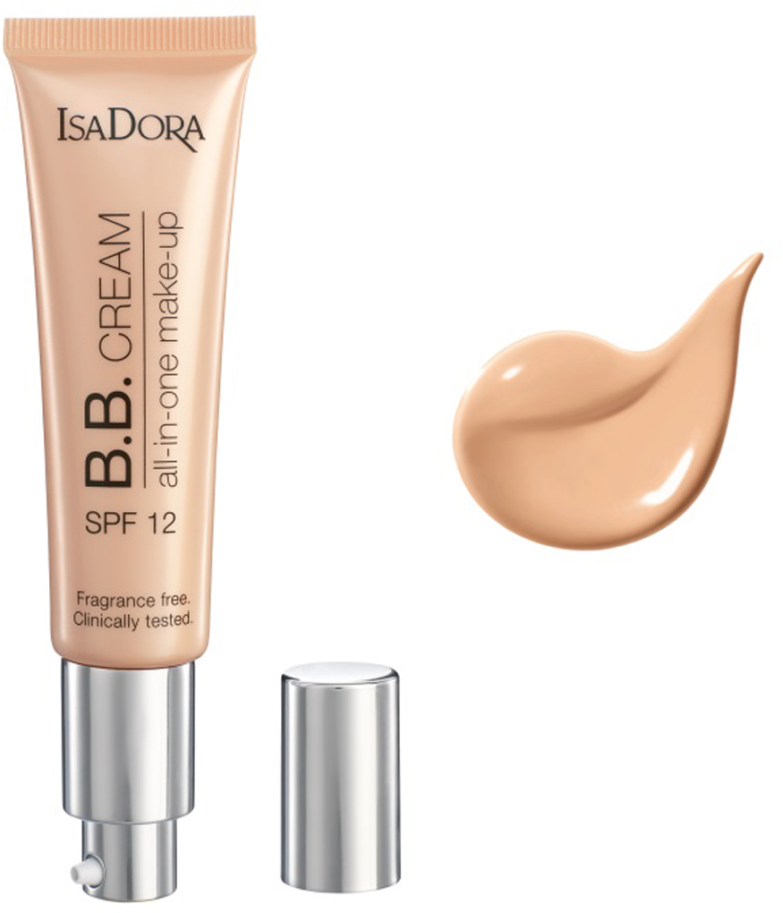 Isa Dora ВВ-крем B.B Cream All-in-One make-up spf 12 10, 35 мл christina дневной крем абсолютная защита spf 20 bio phyto ultimate defense day cream 75 мл дневной крем абсолютная защита spf 20 bio phyto ultimate defense day cream 75 мл 75 мл
