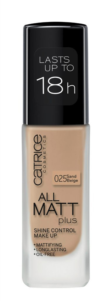 Catrice Основа тональная All Matt Plus Shine Control Make Up 025 Sand Beige, 112 гр тональная основа catrice all matt plus shine control make up цвет nude beige 020 variant hex name d0a58b