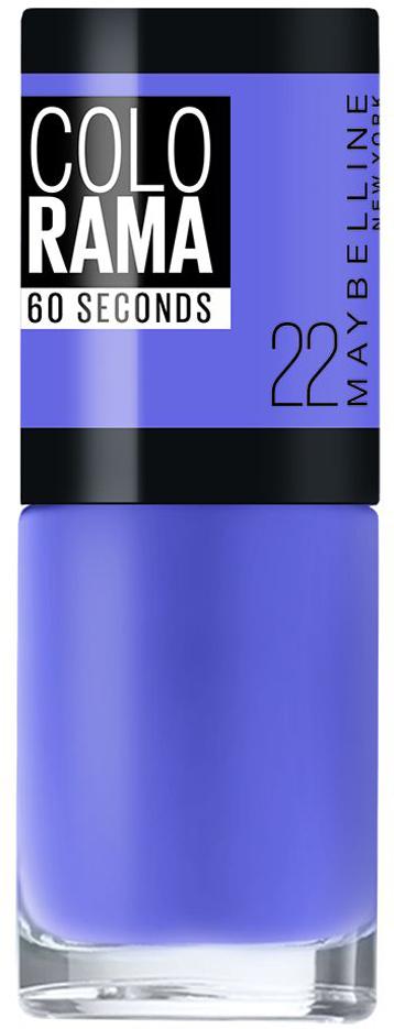 Maybelline New York Лак для ногтей Colorama, оттенок 22, Нежная лаванда, 7 млKGP340SСамая широкая палитра оттенков новых лаков Колорама. Яркие модные цвета с подиума. Новая формула лака Колорама обеспечивает стойкое покрытие и создает еще более дерзкий, насыщенный цвет, который не тускнеет. Усовершенствованная кисточка для более удобного и ровного нанесения, современная упаковка. Лак для ногтей Колорама не содержит формальдегида, дибутилфталата и толуола.Как ухаживать за ногтями: советы эксперта. Статья OZON Гид