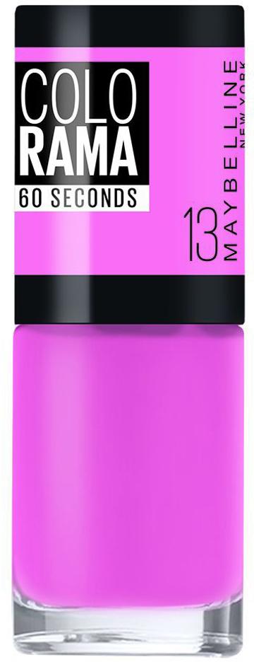 """Maybelline New York Быстросохнущий Лак для ногтей """"Colorama"""", оттенок 13, Розовый сюрприз, 7 мл"""