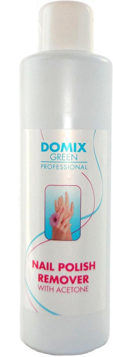 Domix Green Professional Средство для снятия всех видов лака с ацетоном, 1 л616-101983Средство мягко и эффективно удаляет любой маникюрный лак, не повреждая структуру ногтей. Специальный состав жидкости с добавлением увлажняющего комплекса, натуральных экстрактов и масел, деликатно удаляет лак с ногтей, не иссушая ногтевую пластину. Средство не оставляет белого налета на ногтях.Как ухаживать за ногтями: советы эксперта. Статья OZON Гид