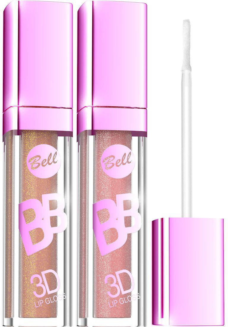 Bell Набор блесков визуально увеличивающих объем губ BB 3D Lip Gloss: тон №1, тон №2, 12 млBsp01Xрустальный Блеск и эффект разглаживания. Секрет действия Блеска для губ заключается в формуле, содержащей Crystal Shine Complex - маленькие частички, отражающие свет и обеспечивающие эффект 3D.Специально подобранные полимеры значительно улучшают увлажнение губ. Состав кондиционирующих компонентов увеличивает гибкость эпидермиса и гарантирует ощущение увлажненных губ. Легкая, кремовая формула не образует комочков и не склеивает губы.