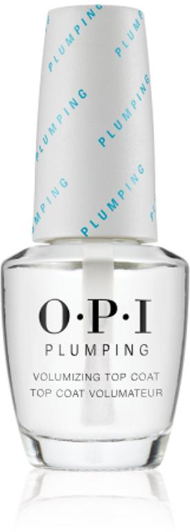 OPI Верхнее покрытие для придания объема маникюру Plumping Top Coat, 15 мл opi покрытие верхнее быстрая сушка rapidry top coat 15 мл