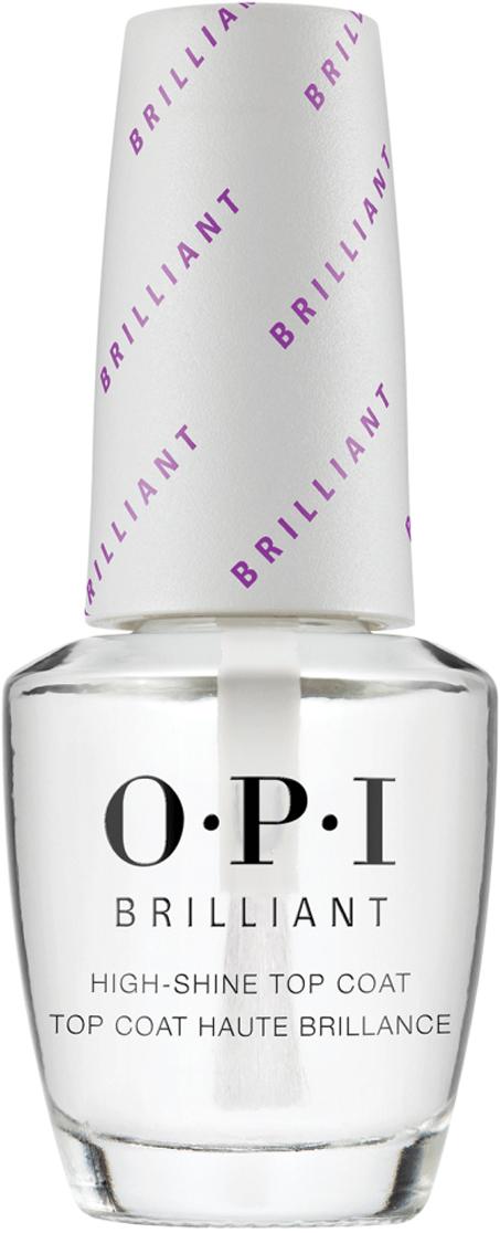 OPI Верхнее покрытие с бриллиантовым блеском Brilliant Top Coat, 15 мл opi покрытие верхнее быстрая сушка rapidry top coat 15 мл