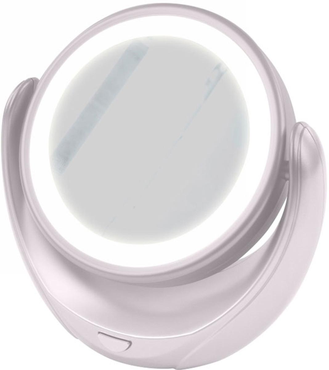 Marta MT-2653, White Pearl зеркало с подсветкойMT-2653Marta MT-2653 - стильное и элегантное настольное зеркало с подсветкой и пятикратным увеличением отражения одной из поверхностей. Идеально подходит для тщательного нанесения макияжа и ухода за кожей лица. Зеркало позволяет изменять угол наклона для достижения максимального удобства, а также имеет две зеркальные стороны, одна из которых обладает свойством пятикратного увеличения отражения, что особенно важно при кропотливой работе с участками лица, требующими наиболее тщательного внимания. Круговая подсветка по контуру зеркала Marta MT-2653 нормализует и выравнивает освещение, позволяя детально разглядеть все нюансы отражения. Для полноценной работы зеркала используются распространенные элементы питания типа АА на 1,5 В, одного комплекта которых хватит на длительный срок эксплуатации. Простота использования и очистки, функциональность, сопровождающаяся особым комфортом, делают настольное зеркало незаменимым аксессуаром для ухода за лицом и в домашних условиях, и в путешествии.