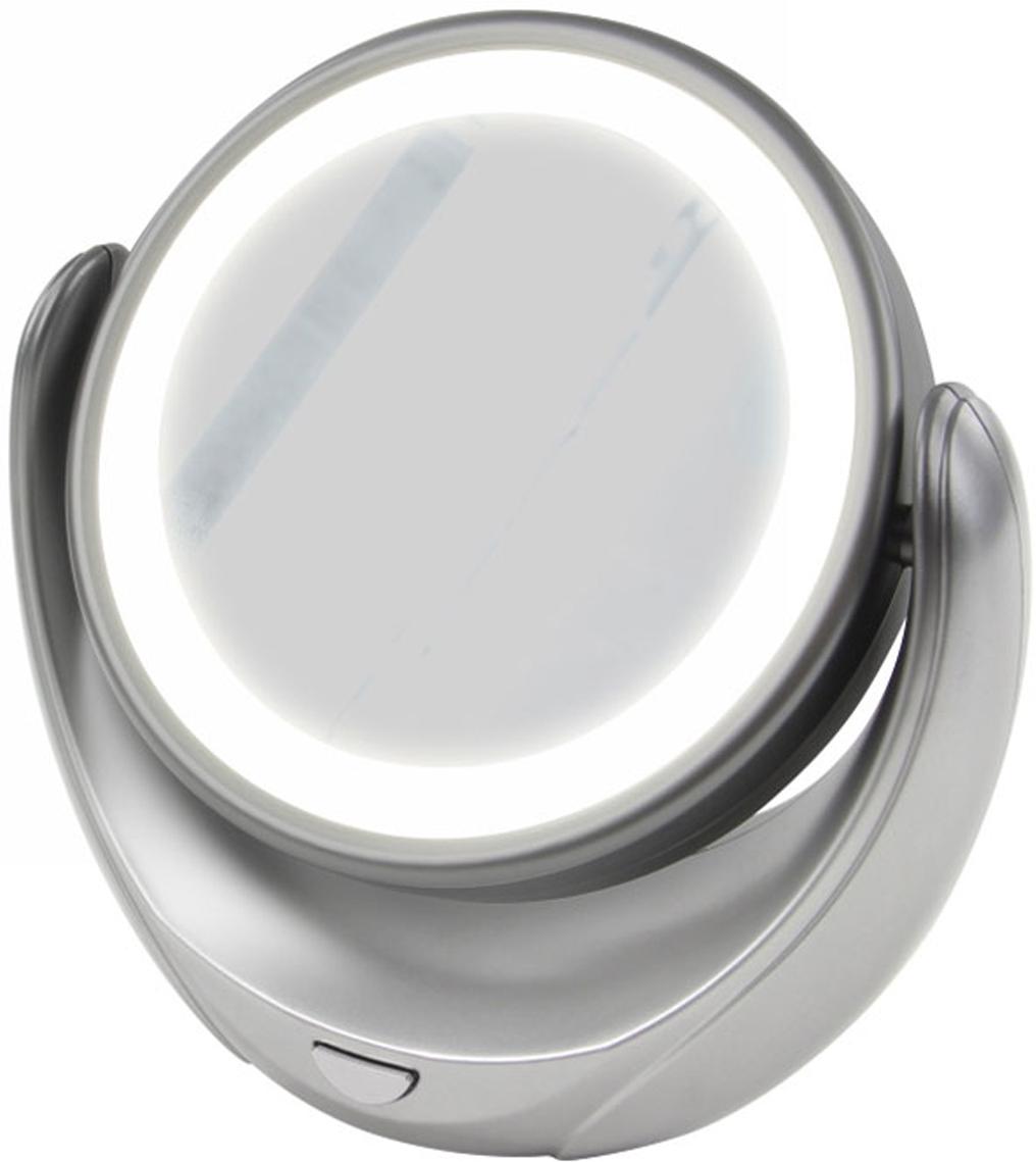 Marta MT-2653, Grey Pearl зеркало с подсветкойMT-2653Marta MT-2653 - стильное и элегантное настольное зеркало с подсветкой и пятикратным увеличением отражения одной из поверхностей. Идеально подходит для тщательного нанесения макияжа и ухода за кожей лица. Зеркало позволяет изменять угол наклона для достижения максимального удобства, а также имеет две зеркальные стороны, одна из которых обладает свойством пятикратного увеличения отражения, что особенно важно при кропотливой работе с участками лица, требующими наиболее тщательного внимания. Круговая подсветка по контуру зеркала Marta MT-2653 нормализует и выравнивает освещение, позволяя детально разглядеть все нюансы отражения. Для полноценной работы зеркала используются распространенные элементы питания типа АА на 1,5 В, одного комплекта которых хватит на длительный срок эксплуатации. Простотаиспользования и очистки, функциональность, сопровождающаяся особым комфортом, делают настольное зеркало незаменимым аксессуаром для ухода за лицом и в домашних условиях, и в путешествии.