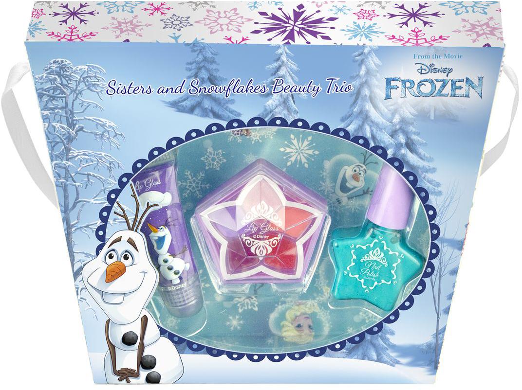 Markwins Игровой набор детской декоративной косметики Frozen Олаф9606651Состав набора: блеск для губ в тубе 1 шт., лак на водной основе для ногтей 1 шт., палитра кремовых теней для век из пяти оттенков в баночке.