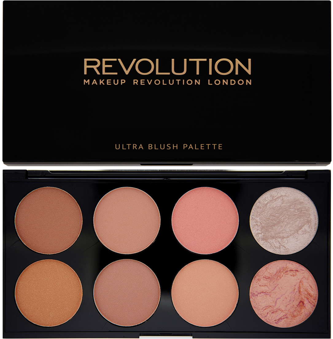 Makeup Revolution Палетка румян Ultra Blush Palette, Hot Spice, 13 гр makeup revolution redemption palette iconic 2 тени для век в палетке 12 тонов 13 г