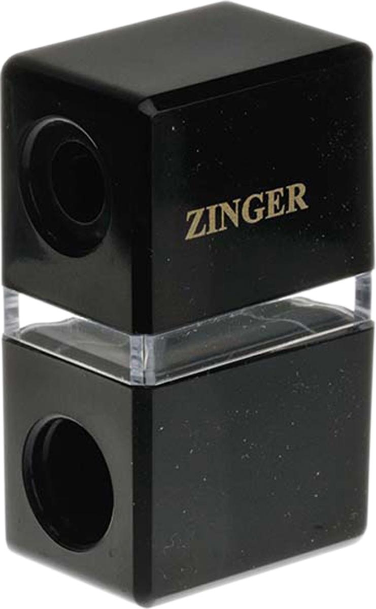 Zinger Точилка двойная zo-SH-247006Точилка подходит для любых видов косметических карандашей. Имеет два диаметра для затачивания. Лезвия изготовлены из высококачественной стали и профессионально заточены