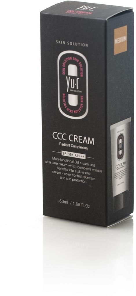 Корректирующий крем Yu-r ССС Cream (medium), 50 мл29101332057Мульти-функциональный комплекс, который включает в себя тональное средство и крем для лица, способствует выравниванию цвета кожи, увлажнению и защите от ультрафиолетового излучения. ( Тон: натуральный