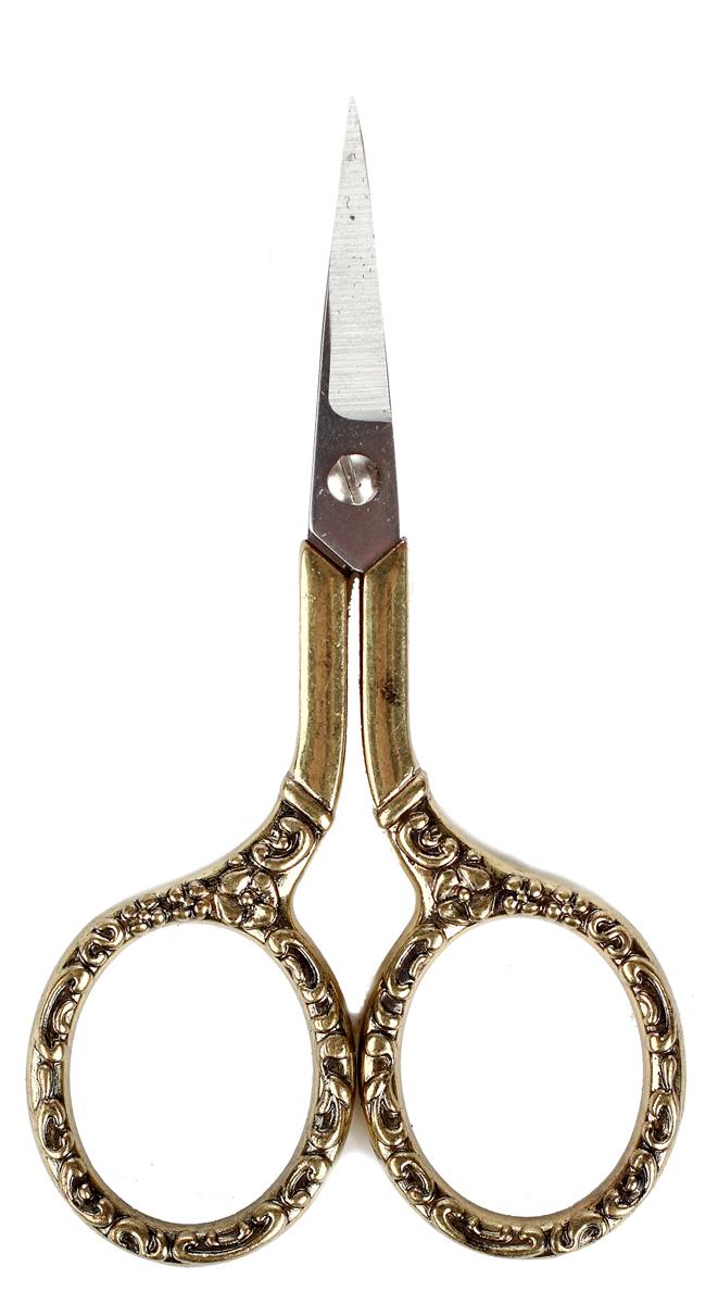 Ножницы для рукоделия RTO  Винтаж , античное золото. 010513-0 -  Канцелярские ножи и ножницы