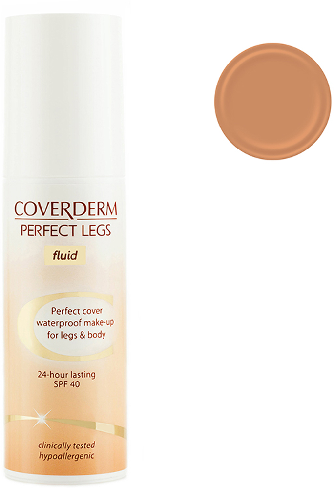 Coverderm Perfect Legs Fluid Тональный крем-флюид для ног и тела Тон №62, Camouflage SPF 40, 75мл coverderm coverderm mascara perfect lashes тушь для ресниц