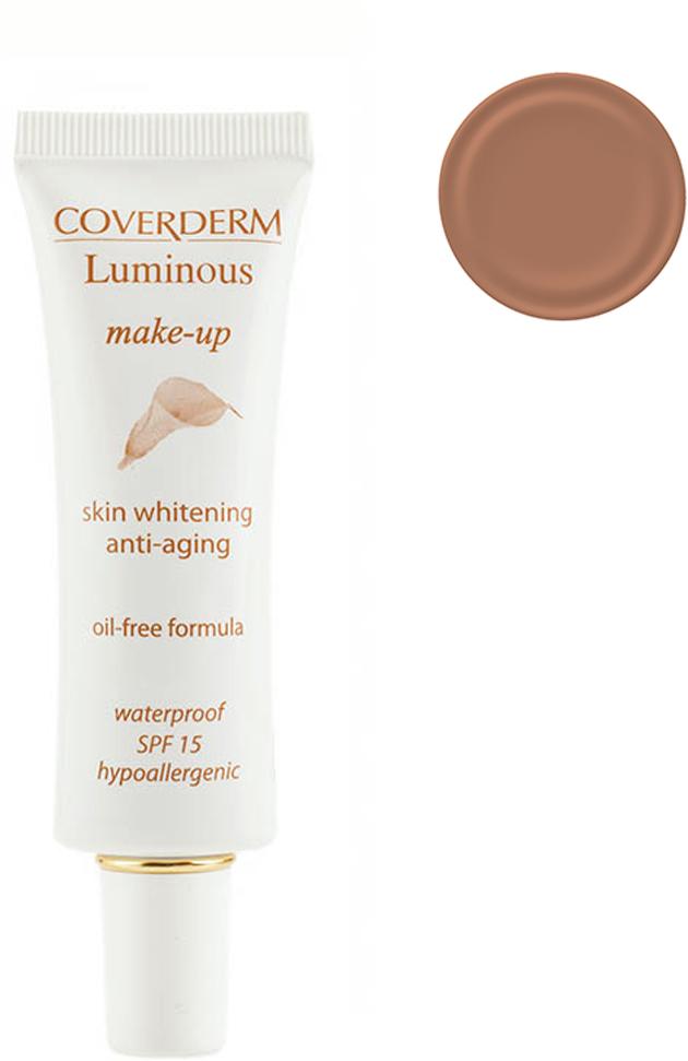 Coverderm Luminous Make-up Антивозрастной тональный крем против пигментации Colorceuticals Тон №5 SPF 15, 30млС1028.52 в 1 – уход и макияж в течение дня! Инновационная формула тонального крема Luminous Make-up содержит Альфа-арбутин и инкапсулированный Витамин С, благодаря этому оказывает отбеливающий и антивозрастной эффект. Идеально маскирует недостатки кожи, усиливает действие отбеливающих косметических средств. Специальные характеристики: водостойкий, гипоаллергенный, идеально держится в течение долгого времени, не содержит масел, обеспечивает UVA/UVB защиту, крем имеет мягкую жидкую текстуру, легко наносится. Подходит для всех типов кожи.