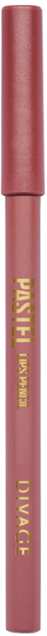 Divage Карандаш Для Губ Pastel - Тон № 220617933-005Мягкий карандаш подчеркивает контур губ, делая их форму более выразительной. Карандаш имеет удобную форму треугольника, благодаря которой не скатывается с плоской поверхности. Содержит смягчающие масла жожоба, соевых бобов, экстракт алоэ вера, витамины Е. Масло жожоба и соевых бобов придаёт контуру кондиционирующее и смягчающее свойства. Оно регулирует водно-липидный баланс, предохраняя кожу губ от сухости. Открой для себя сочетание глубокого цвета и деликатного ухода с карандашами PASTEL от DIVAGE!