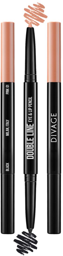 Divage Карандаш Для Глаз И Губ Автоматический Double Line Eye & Lip Pencil - Тон № 0129101344004Двусторонний автоматический карандаш для глаз и губ DOUBLE LINE творит чудеса: одним цветом ты подчеркиваешь глаза, а другим губы. Каждый карандаш с одной стороны имеет черный оттенок, а с другой популярные трендовые оттенки для губ. Мягкая кремовая текстура карандаша делает их использование еще более приятным. Карандаши имеют удобный и функциональный автоматический механизм.