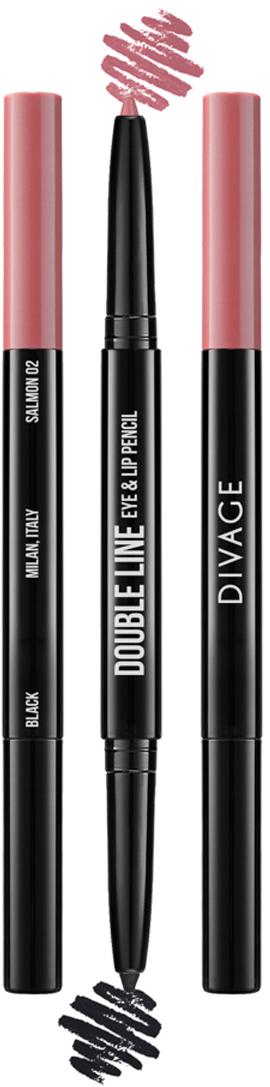 Divage Карандаш Для Глаз И Губ Автоматический Double Line Eye & Lip Pencil - Тон № 02101600040Двусторонний автоматический карандаш для глаз и губ DOUBLE LINE творит чудеса: одним цветом ты подчеркиваешь глаза, а другим губы. Каждый карандаш с одной стороны имеет черный оттенок, а с другой популярные трендовые оттенки для губ. Мягкая кремовая текстура карандаша делает их использование еще более приятным. Карандаши имеют удобный и функциональный автоматический механизм.