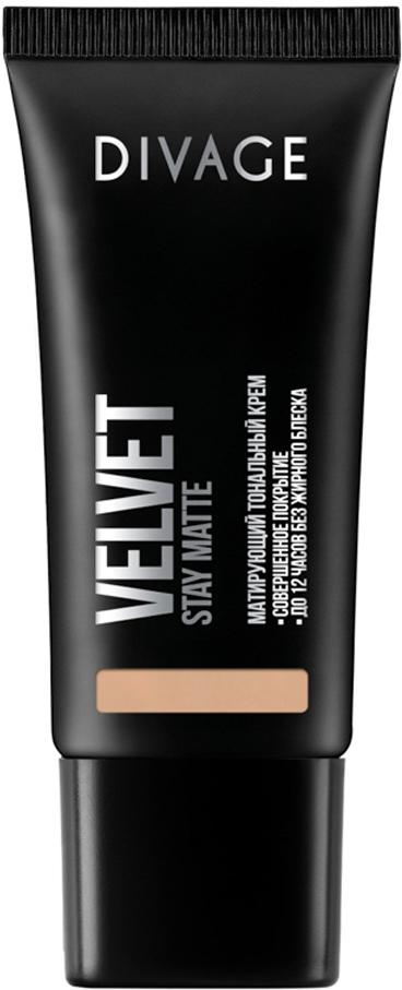 Divage Тональный Крем Velvet - Товар № 08014435Нежная кремовая текстура обладает тройным действием. Микропигменты идеально выравнивают кожу, маскируя любые недостатки, и создают идеально ровный тон лица, придавая коже бархатное сияние. Витамин Е защищает кожу от вредного воздействия окружающей среды. Экстракт зеленого чая, входящий в состав формулы, сужает поры и придаёт дополнительную матовость коже лица. Тональный крем держится до 12 часов, сохраняя кожу ровной и гладкой без жирного блеска. В коллекцию добавлены три новых благородных оттенка, для еще более комфортного и естественного макияжа.