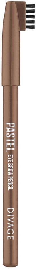 Divage Карандаш Для Бровей Pastel - Тон № 1104013643Карандаш плотной текстуры идеально подходит для графичного моделирования формы бровей. Воздушный пудровый контур придаёт бровям совершенную форму и гармоничный объём. Обеспечивает эффект натуральных, ровных и густых бровей. Эффект достигается не только благодаря насыщенному составу, но и маленькой расчёске, которая используется до и после применения карандаша. Она предварительно подготавливает брови для использования карандаша, а затем облегчает его равномерное распределение для придания брови формы и ровного цвета. Касто ровое масло и растительные воски, содержащиеся в составе карандаша, бережно ухаживают за нежной кожей века. Подари образу максимальную естественность с карандашами для бровей PASTEL от DIVAGE!Как создать идеальные брови: пошаговая инструкция. Статья OZON Гид