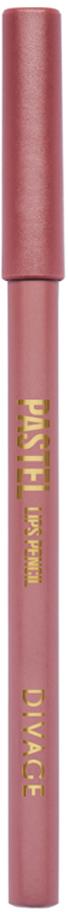 Divage Карандаш Для Губ Pastel - Тон № 2210013582Мягкий карандаш подчеркивает контур губ, делая их форму более выразительной. Карандаш имеет удобную форму треугольника, благодаря которой не скатывается с плоской поверхности. Содержит смягчающие масла жожоба, соевых бобов, экстракт алоэ вера, витамины Е. Масло жожоба и соевых бобов придаёт контуру кондиционирующее и смягчающее свойства. Оно регулирует водно-липидный баланс, предохраняя кожу губ от сухости. Открой для себя сочетание глубокого цвета и деликатного ухода с карандашами PASTEL от DIVAGE!