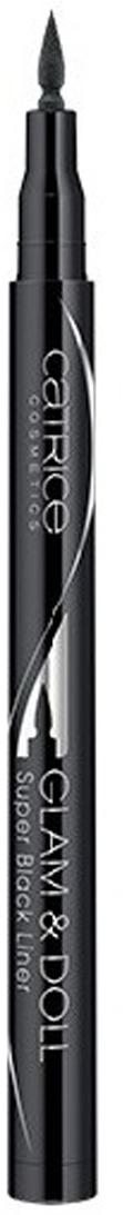 Catrice Подводка для глаз Glam & Doll Super Black Liner 010 Super Black черный 1 гр catrice контур для глаз kohl kajal 040 white белый 1 1гр